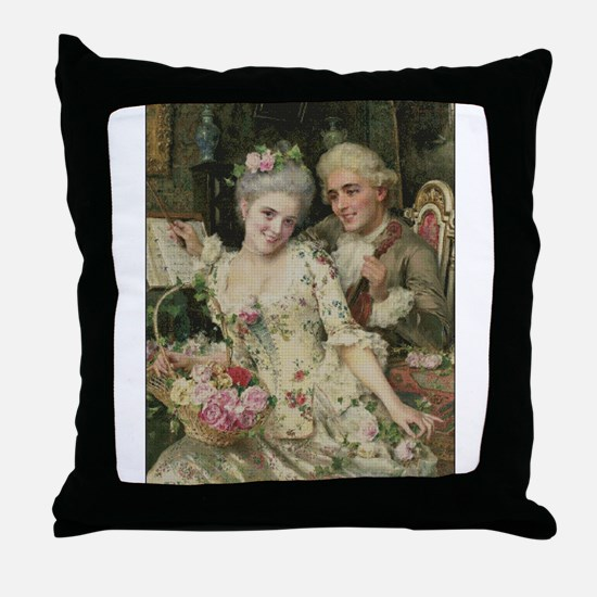 Rococo Couple In Love Throw Pillow