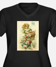 Little Victorian Girl With Flower Basket Women's P