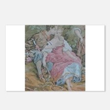 Rococo Couple At A Picnic Postcards (Package of 8)