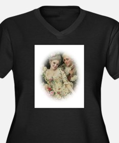 Portrait Of Rococo Couple In Love Women's Plus Siz