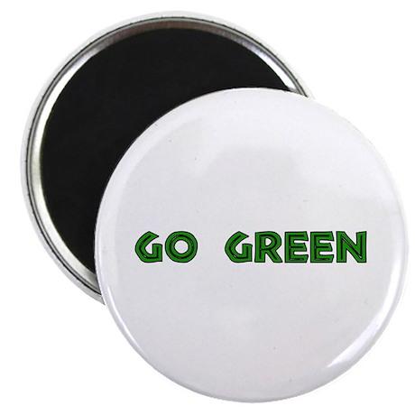 """Go Green 2.25"""" Magnet (100 pack)"""