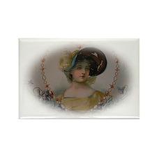 Regency Lady in Portrait Rectangle Magnet (100 pac