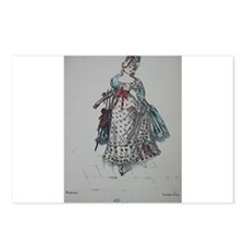 Pretty Georgian Lady 4 Postcards (Package of 8)