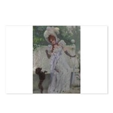 Lady With Her Poodle Postcards (Package of 8)