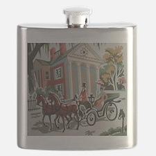 Southern Romantic Drive Flask