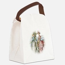 Portrait Of Victorian Duo Canvas Lunch Bag