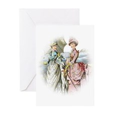 Portrait Of Victorian Duo Greeting Card