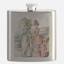 Duo of Victorian Ladies Flask