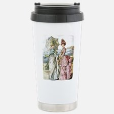 Duo of Victorian Ladies Stainless Steel Travel Mug