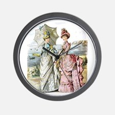 Duo of Victorian Ladies Wall Clock