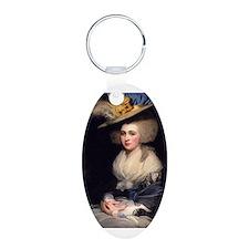 18th Century Portrait of Abigail Adams Keychains
