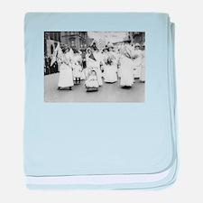 Suffragettes baby blanket