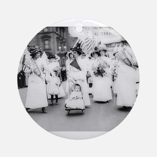 Suffragettes Ornament (Round)