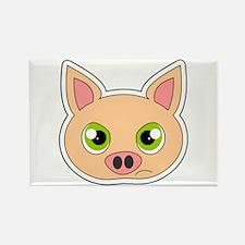 Cute Sad Cartoon Pig Rectangle Magnet