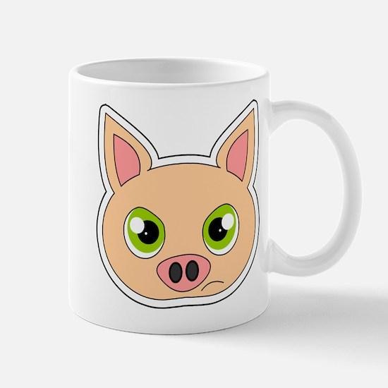 Cute Sad Cartoon Pig Mug