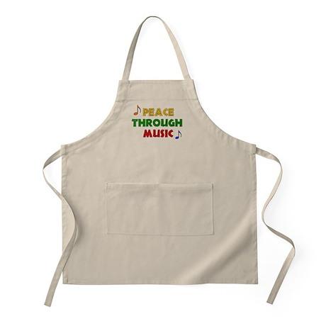 Peace Through Music BBQ Apron