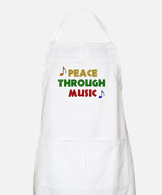 Peace Through Music BBQ Apron