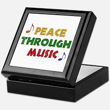 Peace Through Music Keepsake Box