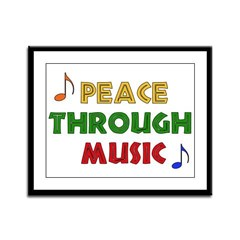 Peace Through Music Framed Panel Print
