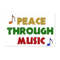 Peace Through Music Posters