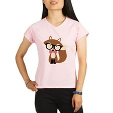 Hipster Brown Fox Performance Dry T-Shirt