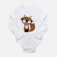 Hipster Brown Fox Body Suit