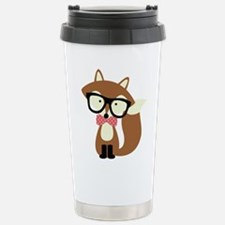 Hipster Brown Fox Travel Mug
