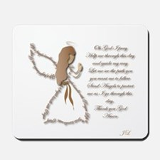 Life is fragile Angel Mousepad