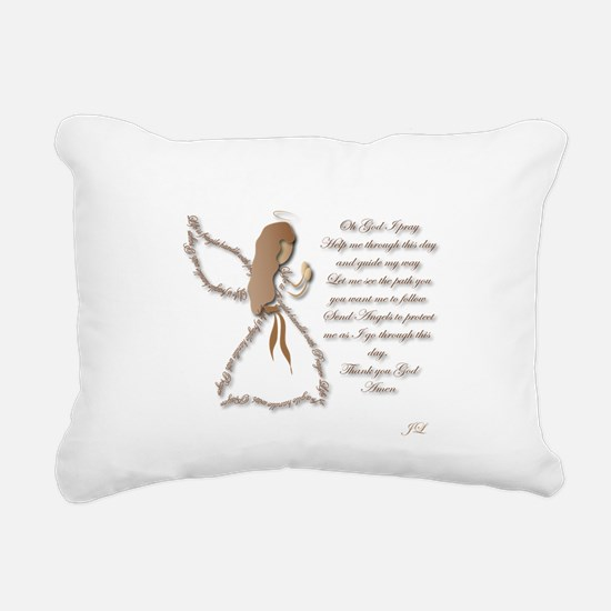 Life is fragile Angel Rectangular Canvas Pillow