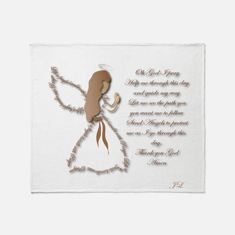 Life is fragile Angel Throw Blanket