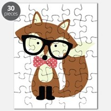 Hipster Brown Fox Puzzle