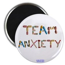 """Team Anxiety Button Magnets 2.25"""" 10 Pack"""
