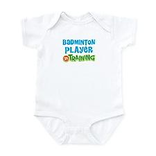 Badminton player in training Infant Bodysuit