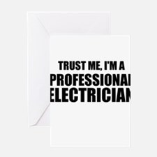Trust Me, I'm A Professional Electrician Greeting