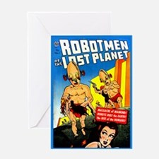 Robotmen Of The Lost Planet Card Greeting Cards
