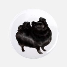 "Pomeranian (blk) 3.5"" Button"