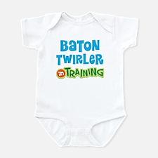 Baton twirler in training Infant Bodysuit