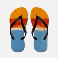 ROTHKO IN BLUE _ORANGE RED Flip Flops