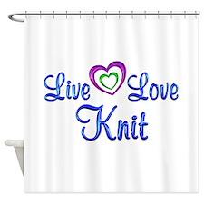 Live Love Knit Shower Curtain