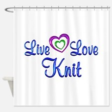 Live Love Knit Shower Curtain