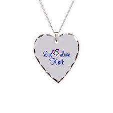 Live Love Knit Necklace