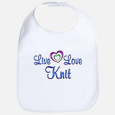 Live Love Knit Bib