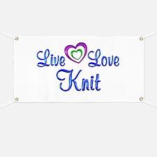 Live Love Knit Banner