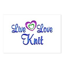 Live Love Knit Postcards (Package of 8)