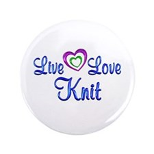 "Live Love Knit 3.5"" Button"
