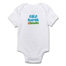 Calf roper in training Infant Bodysuit