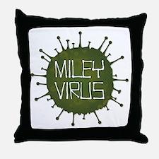 Miley Virus 3 Throw Pillow