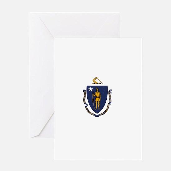 Massachusetts State Flag 2 Greeting Cards