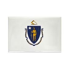 Massachusetts State Flag 2 Magnets