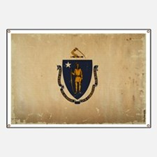 Massachusetts State Flag VINTAGE Banner
